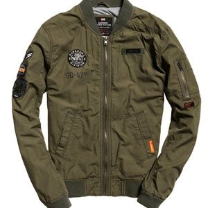 Rookie Aviator Patched Bomber Jacket